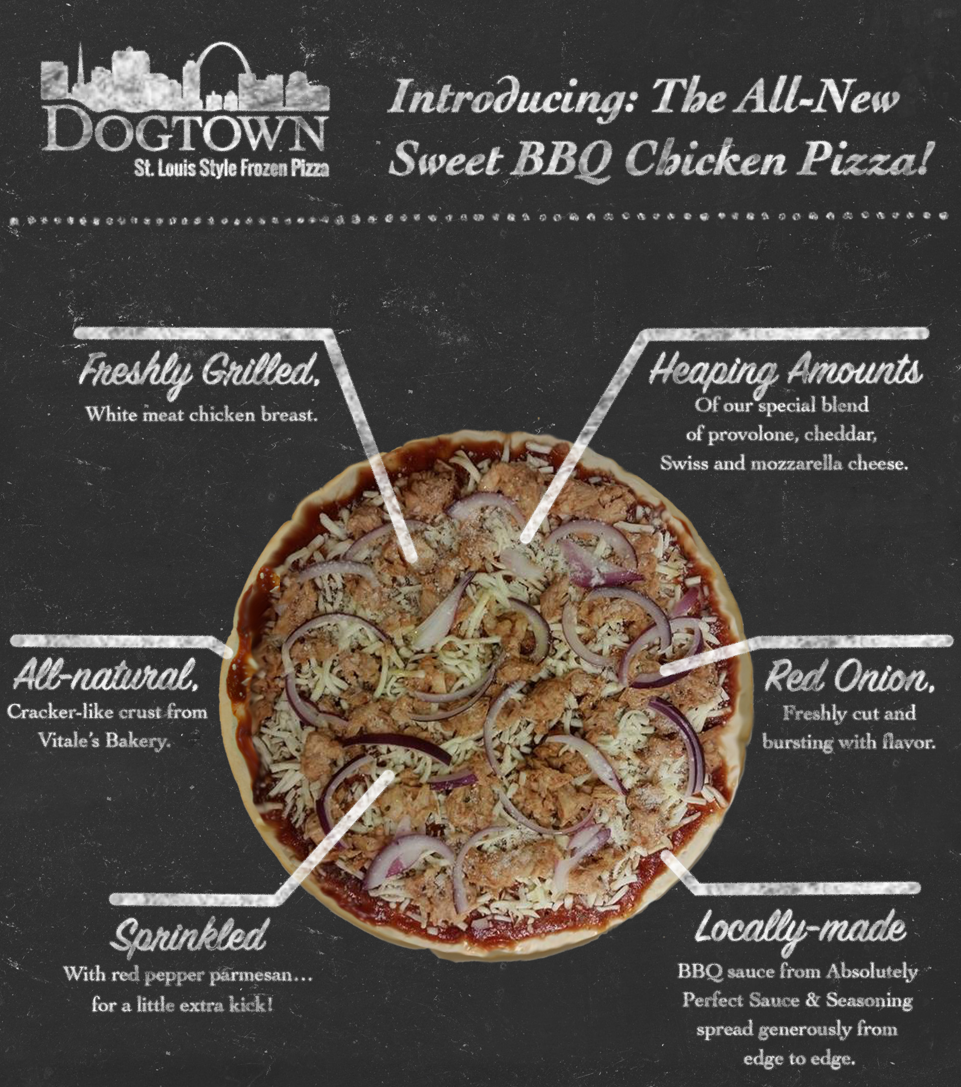 Sweet BBQ Chicken Dogtown Pizza variety