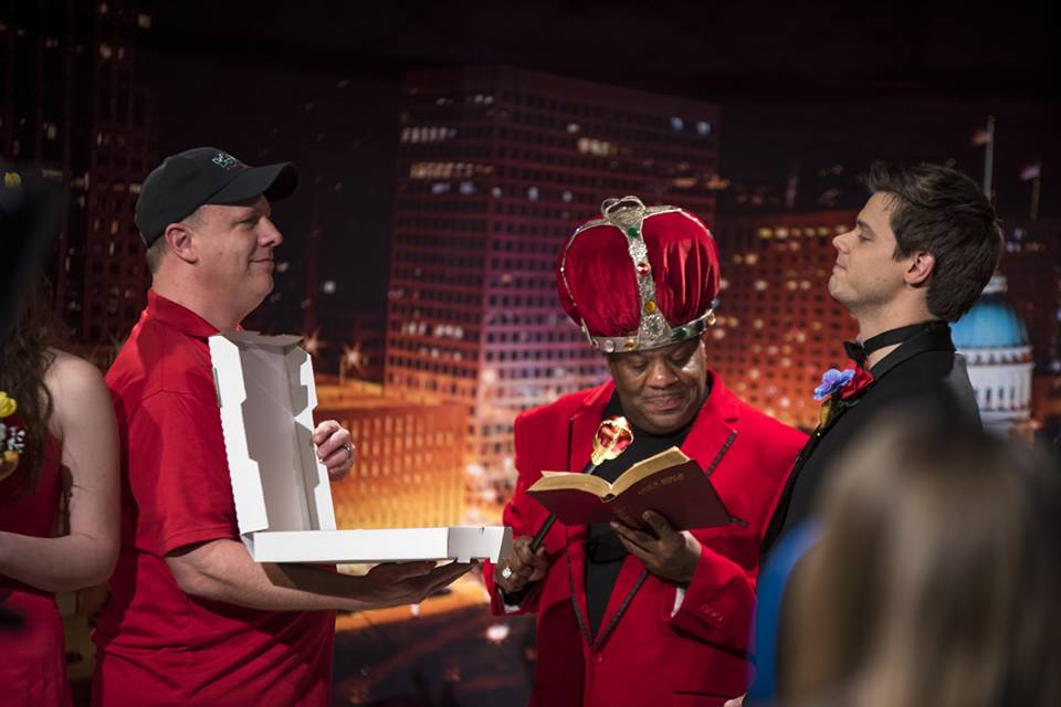 "Rick Schaper walks Dogtown Pizza down the aisle to ""marry"" STL Up Late"