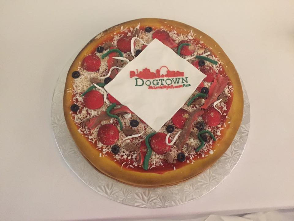 Dogtown Pizza 10th Anniversary Cake