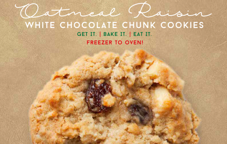 Oatmeal Raisin White Chocolate Chunk Cookies
