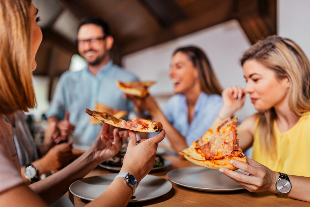 Co-worker-pizza-party